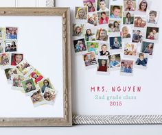 School Year Photo Art - Great for holding onto memories of an amazing school year