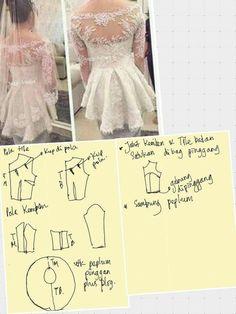 Kebaya Peplum, Kebaya Lace, Kebaya Hijab, Kebaya Wedding, Wedding Hijab, Hijab Bride, Dress Brukat, Batik Dress, Blouse Patterns