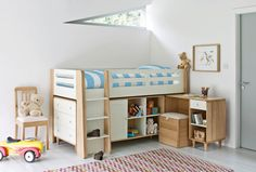 The midsleeper provides endless storage for the inevitable clutter