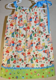 Icecream Party Dress Candy Pillowcase Dress Retro Childrens Dress  Little girl
