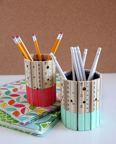 40 DIY Projects for Your Extra Office Supplies via Brit + Co.