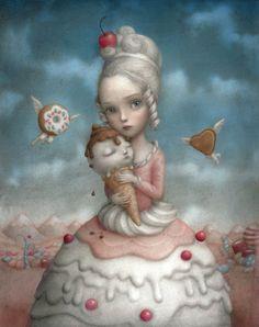 Nicoletta Ceccoli - Illustration  - Marie-Antoinette
