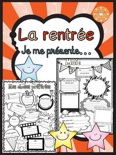 La rentrée scolaire - Je me présente - Me voici - All about me - Back to school French Teaching Resources, Teaching French, Beginning Of School, First Day Of School, September Activities, French Worksheets, Core French, Welcome Back To School, Meet The Teacher