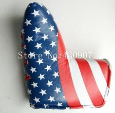 High Quality 1pc Golf Blade Putter Covers For Golf Scotty Cameron Putter USA Flag Red Super Bees Embroidery Headcover