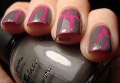 crackle nail polish never looked so good.