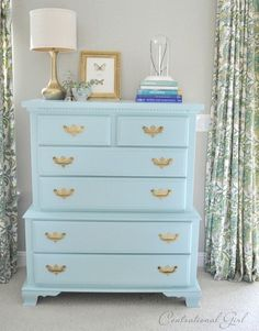 We've shown you all kinds of ways to dress up your dresser, but what if you need to do a little work on it first? Follow this tutorial for tips on repairing damaged wood, priming, painting, and polishing hardware.