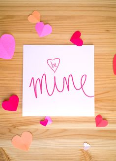 Write and Wrap Part 2— Valentine's Day Edition - diy vday card with free pdf #bemine