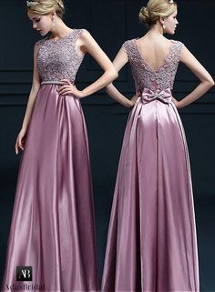 Lavish Stretch Charmeuse Satin Scoop Neckline Floor-length A-line Evening Dresses With Lace Appliques & Beadings Source by Carl_Single dresses Dance Dresses, Satin Dresses, Elegant Dresses, Pretty Dresses, Beautiful Dresses, Lace Dress, Prom Dresses, Gown Pattern, Dress Patterns