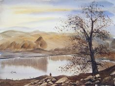 "My Watercolour Diary: Stonehills Tarn, Lake District 15"" x 11"" Watercolour Painting"