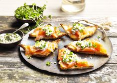 Smoked Salmon and Salad Cress Creme Fraiche on Melba Toast: Whether you're preparing canapés for a dinner party or nibbles for a cosy night in with friends, our melba toasts are sure to get your taste buds tingling. Easy to make and tasty to eat, these mini treats are the perfect finger food for any gathering, large or small.