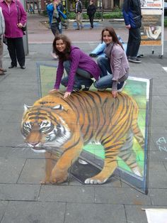 Amazing 3-D Sidewalk Chalk Art