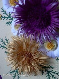 Открытка День рождения Квиллинг Отцвели уж давно хризантемы в саду  Бумага фото 1
