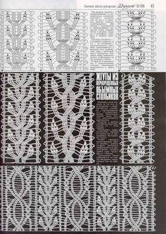 "Photo from album ""Дуплет on Yandex. Crochet Curtains, Crochet Fabric, Crochet Home, Crochet Scarves, Crochet Cable, Crochet Lace Edging, Crochet Borders, Crochet Stitches Chart, Crochet Diagram"