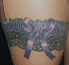 Garter tattoo. I really want one! Sexy idea, but completely private and personal, so it would always be covered unless I chose to let people see it :-)