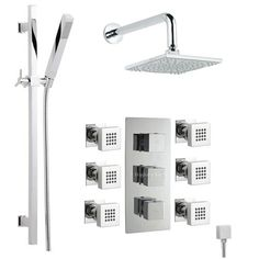 Triple Thermostatic Shower Valve with Divertor, Slider Rail Kit, Square Fixed Head and 6 Square Body Jets Sprays Hudson Reed,http://www.amazon.com/dp/B004GBM2YQ/ref=cm_sw_r_pi_dp_MGZCsb0Z9CCYF3DZ
