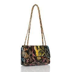 Love this handbag. Multicolored goes with anything. This one's especially good for black.