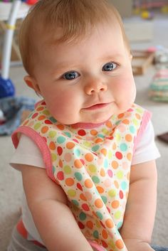 Bapron (baby apron) tutorial || Craftiness is not Optional