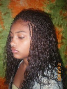 micro braids hairstyle for curly hair