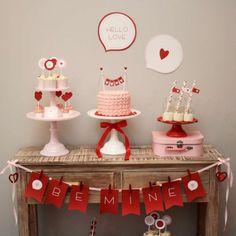 Love Dessert Table   CatchMyParty.com