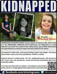 CHILD AMBER ALERT 2/18/14...PLEASE PRAY & FORWARD
