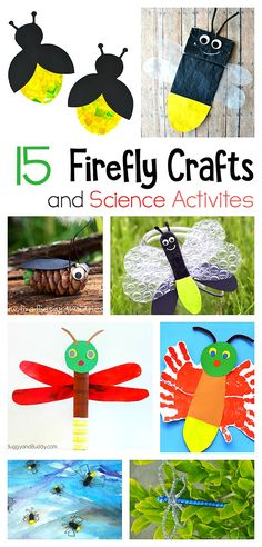 15 Firefly Crafts fo 15 Firefly Crafts for Kids- including glowing lightning bugs handprint firefly fireflies made from cardboard tubes pinecones and more. Great ideas for STEM / science ideas for summer! Summer Crafts For Kids, Spring Crafts, Art For Kids, Spring Art, Daycare Crafts, Toddler Crafts, Toddler Art, Lightning Bug Crafts, Preschool Crafts