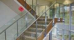Our glass panel connectors are pre-attached to the tubing. The Glass railing system no need special assembly tools. Stainless steel glass railing is best for interior or exterior where customers require a glass railing system.