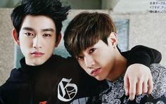 The ever so adorable JinMark couple of GOT7. I see you, Jinyoungie, I see you ;P