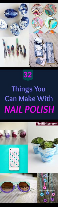 32 Amazing Things You Can Make With Nail Polish - Thrillbites - Fun Crafts To Do With Nail Polish Fun Crafts To Do, Crafts To Make And Sell, Diy Arts And Crafts, Crafts For Teens, Easy Crafts, Teen Crafts, Room Crafts, Diy Craft Projects, Craft Ideas