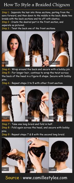 Styling a Braided Chignon | Beauty Tutorials