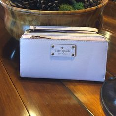 Kate Spade Wristlet Posypink Never used, brand new with tags, perfect for a smartphone as well kate spade Bags Clutches & Wristlets