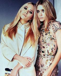 vintage pale colours with studs and jewels. love the olsen twins!!
