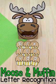 This book-inspired Moose & Muffin Letter Recognition Activity is a fun way for pre-readers to practice identifying capital and lowercase letters!