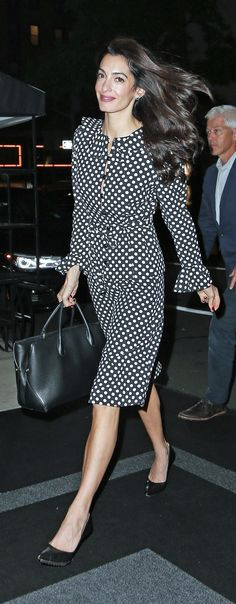 Hunting down Amal Clooney's exact pieces is not always easy. The human rights activist and lawyer tends to shop vintage, and when she does style Prep Style, My Style, Executive Outfit, Amal Clooney, George Clooney, Lebanese Civil War, Nicole Warne, Human Rights Activists, Gown Suit
