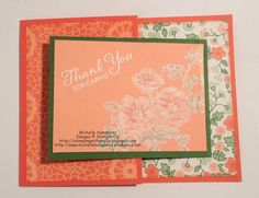 Sweetbriar Rose Joy Fold Whitewashing Card by stampingshelle - Cards and Paper Crafts at Splitcoaststampers Joy Fold Card, Craft Sites, Stampin Up Cards, Cardmaking, Greeting Cards, Paper Crafts, Stamping, Clever, Rose