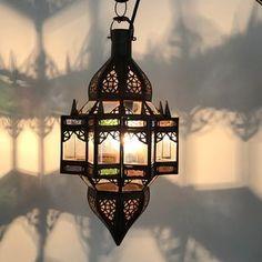 Mkanta Lantern; Multi Colour Moroccan Lamp, Moroccan Lanterns, Moroccan Inspired Bedroom, Bohemian Decor, Bohemian Style, Electrical Fittings, Ceiling Rose, Arabian Nights, Moorish