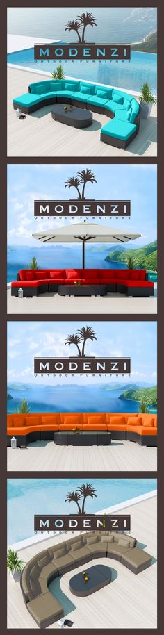 Modenzi 11c Modern Outdoor Wicker Sofa Furniture set