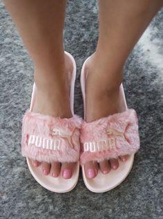 cda9ae534c1 Fall s Hottest Shoe  Rihanna for Puma Fenty Fur Slide Furry Puma Slides