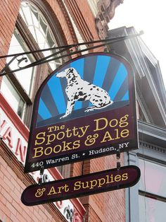Bookstore in Hudson, NY - a former firehouse. ... http://scotfin.com/scot-fin-novel/ says, 'Books & Ale' Now we're talking.