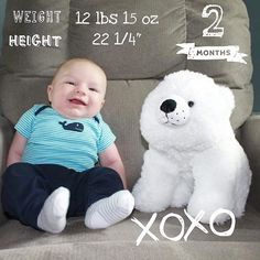So adorable  So in love with @handywife6 2 months pic   Those milestones  Sweet pic ever! (Find this artwork in our 'XOXO & Dates ' pack. Link to download 'Baby Story' App in our bio ) @BabyStoryApp #BabyStoryApp