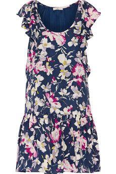 Joie Larose printed silk-chiffon mini dress | THE OUTNET