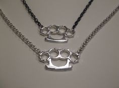 Silver Knuckle Duster Necklace  Price - $26  Length - 51cm  Price does not include shipping.  Contact- kendal.halloran@gmail.com