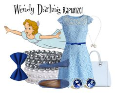 """""""Wendy Darling~Rapunzel"""" by we-luv-disney ❤ liked on Polyvore featuring Victoria Beckham, Pieces, Chicwish, Kate Spade, ANNA BAIGUERA, Alexander McQueen, women's clothing, women's fashion, women and female"""