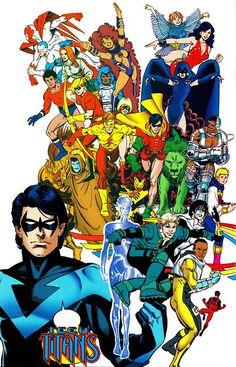 teen titans - a celebration of 50 years The New Teen Titans, Teen Titans Go, Dc Comic Books, Comic Art, Gi Joe, Titans Tv Series, Legion Of Superheroes, Batman Poster, Dc Memes