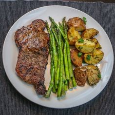 Grilled Steak and Asparagus With Roasted Potatoes Recipe by austinb747 on…