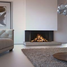 Fireplace Tv Wall, Modern Fireplace, Living Room With Fireplace, Fireplace Surrounds, Fireplace Design, Living Room Modern, Home Living Room, Living Room Designs, Living Room Decor