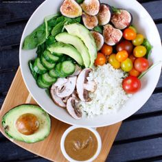 Raw Salad + Easy Balsamic Hemp Dressing (oil-free, low-fat)