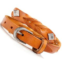 Vintage Brown Wilderness Fiesta Leather Bracelet Cuff | RnBJewellery