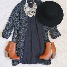 Dress, Tights, Big sweater, boots. I need.