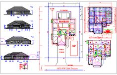 Bungalows Cad drawing and floor plan Cad Engineer, 3d Architect, Cad File, Steel Detail, Working Drawing, Dressing Area, Study Rooms, Kids Play Area, Building Structure
