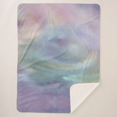 Watercolor Marble Decor | Colorful Rainbow Pastel Sherpa Blanket - romantic gifts ideas love beautiful